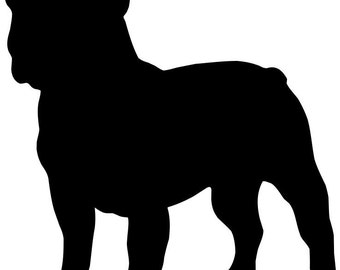 American bulldog silhouette - photo#11