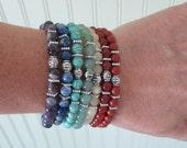 Chakra Bracelet Set - Set of 7 Chakra Gemstone Stretch Bracelets - Reiki/Chakra/Yoga/Meditation Jewelry