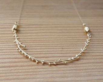 Gold Twig Branch Necklace, Gold Branches, Twig Jewelry, Branch Jewelry, Gold Necklace, Mother's Day Gifts, Birthday Gift, Gift For Her