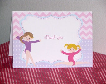 Gymnastics Thank You Notes Thank You Cards Personalization Available