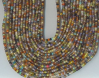 """14.5"""" Strand 3.5mm Faceted Multi Cubic Zirconia CZ Rondelle Beads SPARKLY"""