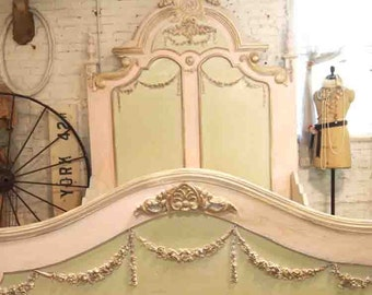 Painted Cottage Shabby Chic Marie Antoinette Romantic Queen / King Bed