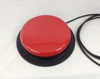 Giant Red USB button - 5 inch button - for Photobooth or anything you can think of - can also be green yellow or blue
