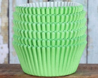 Lime Green Cupcake Liners, Lime Green Cupcake Wrappers, Lime Green Cupcake Cases, Stay Bright Greaseproof Cupcake Liners, Baking Cups (50)