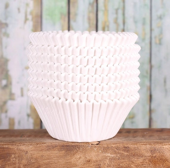 JUMBO White Cupcake Liners, Texas Size Muffin Cups, Jumbo White Baking Cups, Jumbo Muffin Liners, Jumbo Wedding Cupcake Liners (100 count)