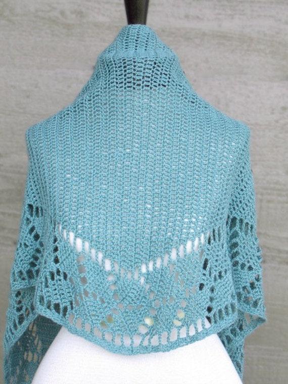 Crochet Pattern: Spring Leaf Shawlette