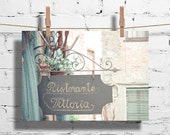 Vittoria Restaurant - Italian landscapes, pastel mint green photography, soft pink, soft blue, turquoise, tiffany blue 8x10