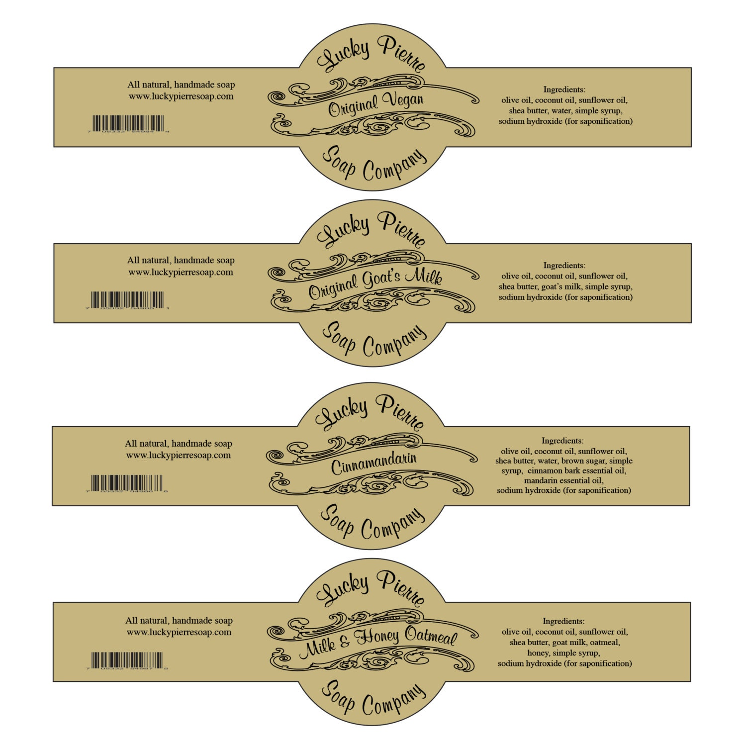 Soap Label Templates Cigar Band Soap Label Template