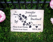 "Free Shipping- Custom Memorial Plaque -12x8x3/8"" Italian Porcelain-"