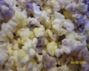 Gourmet White Chocolate Covered Popcorn with Walnuts