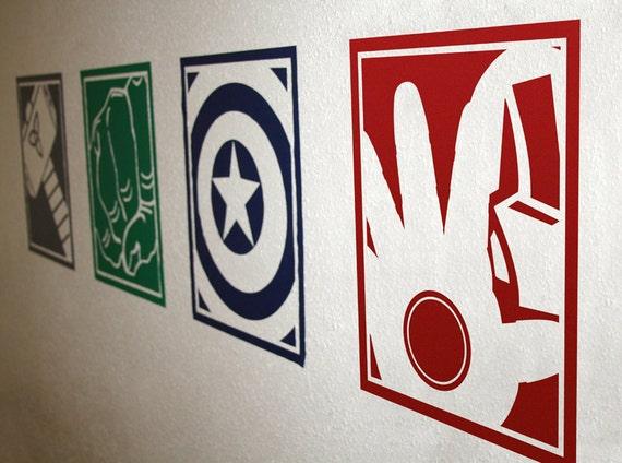 superhero vinyl wall decals