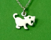 Saber Tooth Tiger Necklace Cute tiny tiger Pendant sterling silver Tiger Jewelry baby tiger pendant  kids necklace