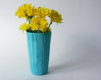 Teal vase  /  blue green Vase / teal home / Modern Country Cottage / handcrafted vase / Carriage Oak Cottage