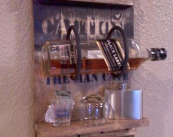 Man Cave Bottle Rack , Shot glass rack