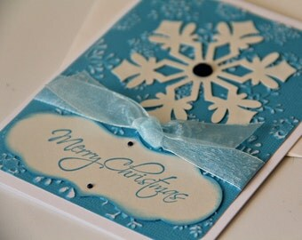 Embossed Snowflake Christmas Card (CC1305)