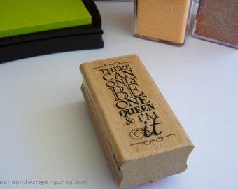 Queen Rubber Stamp - Studio G - Kolette Hall - Hampton Art