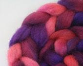 Purple Potion  - hand dyed Norwegian roving - 4 oz