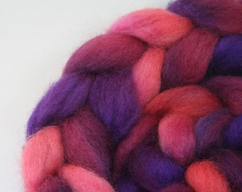 Purple Potion  - hand dyed Norwegian roving - 4 oz