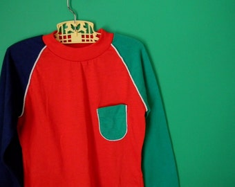 Vintage Boy's Colorblock Shirt - Size 8 or 10