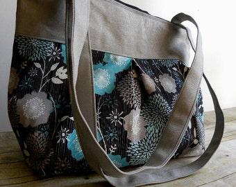 The Gretta Handbag-  CUSTOM Pleated Hobo Bag with Zipper Closure