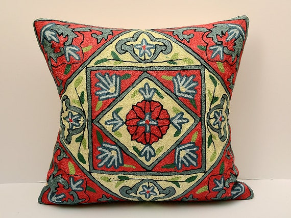 ikat ikat kissen 50x50 cm silk baumwolle usbekischen ikat. Black Bedroom Furniture Sets. Home Design Ideas