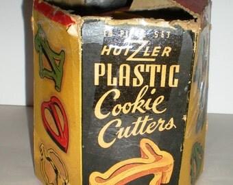 Vintage Hutzler Cookie Cutters - Set of 13 - Original Box
