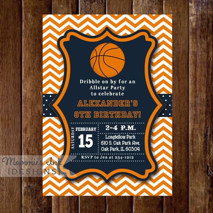 basketball invitation basketball birthday invitation, Birthday invitations