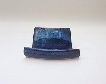 Handmade Pottery Business Card Holder for desk or office
