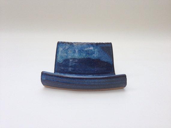 Handmade pottery business card holder for desk or office for Ceramic business card holder