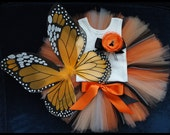 Sweet Monarch Butterfly Costume Tutu for Baby Girls Birthday Dress Up