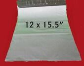 """10 Large White Poly Mailers. Non-Fragile Use. 12""""x15.5"""" Polyethylene Envelopes. 5206"""