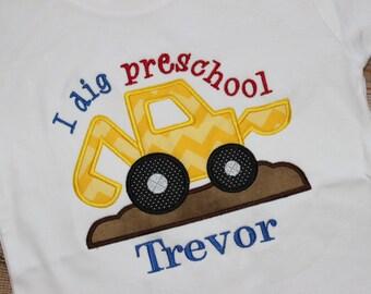 Personalized I Dig Preschool Shirt