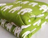 Extra Large Cotton Double Padded Elephant Tummy Time Mat. No Foam Baby Play Mat