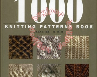 1000 Knitting Patterns Book Download : Chinese Edition Japanese Knitting Craft Pattern Book