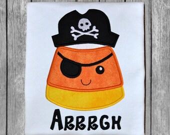 Candy Corn Pirate Applique