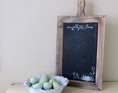 Farmhouse Chalkboard Rustic French Country Hand Painted Nest and Eggs Message Board