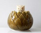 Vintage Green California Ceramic Artichoke Vase