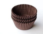 Brown Cupcake Liners, Brown Baking Cups, Solid Brown Liners (50)