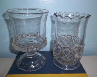 Sale - Antique - Spooner - Celery Keeper - Pressed Glass - Elegant Table Setting - Dining - Candy Jar - Planter - Vase