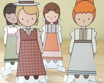 Lucy Maud Montgomery Costume Paper Dolls