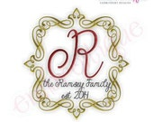 Ramsey Vintage Font Frame- Instant Email Delivery Download Machine embroidery design