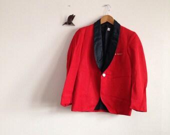 Red vintage concierge jacket