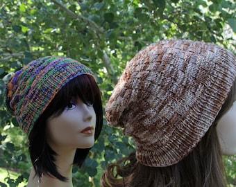 Knit Hat Pattern, Knitting Pattern, Slouch Hat Pattern, Beanie Pattern