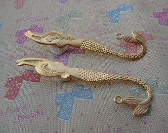 5pcs Gold Patterned mermaid Bookmarks Metal Bookmarks Curved Bookmark Christmas Gift