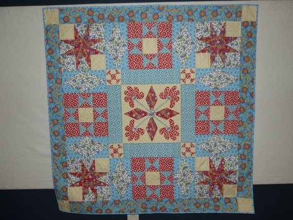 Floral summer quilt by beaquilter