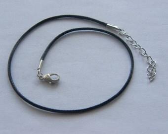 BULK 20 Black waxed cord necklaces 47cm