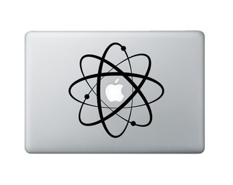 Atomic Symbol Laptop Decal - Science Macbook Decal - Laptop Sticker
