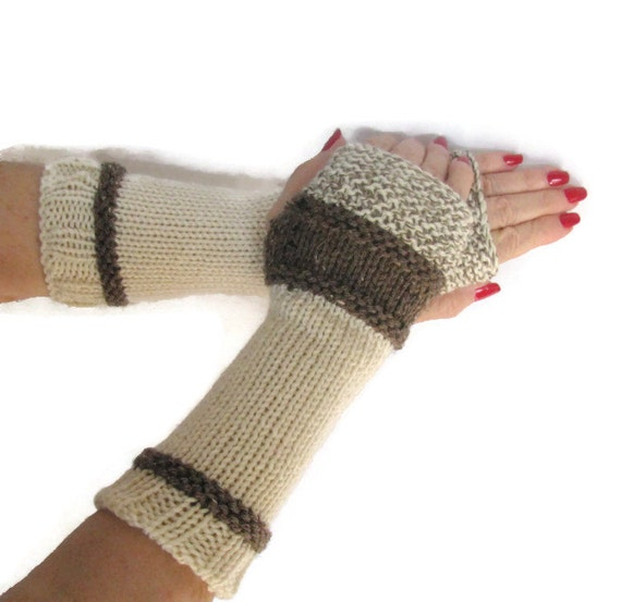 Items similar to Fingerless Gloves, Knit Gloves, Texting Gloves, Arm Warmers,...