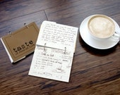 Recipe Journal with Writing Prompts, Food Diary - Taste of Food and Life in fudge brownie