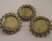 Set of 3 bronze  frame brooch for jewelry